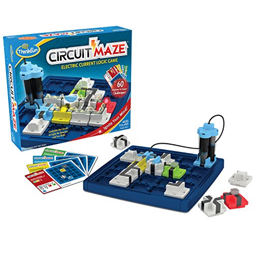 ThinkFun Circuit Maze Electric Current Logic Game and STEM Toy for Boys and Girls Age 8 and Up - Toy of the Year Finalist, Teaches Players about Circuitry through Fun Gameplay ()