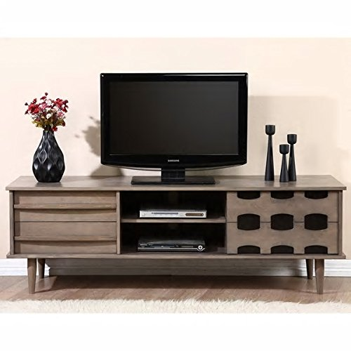 Vanda 70″ Entertainment Center (Charcoal Grey)