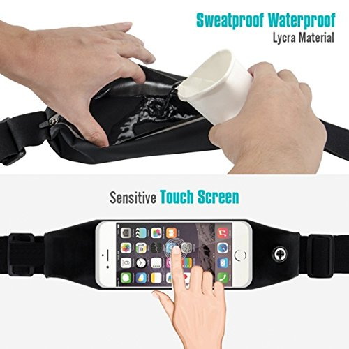 Sweatproof Reflective Sports Waist Bag Case with Transparent Touch Screen Window for ZTE Solar - US Cellular iPhone 6 - US Cellular iPhone 6S - US Cellular LG Logos