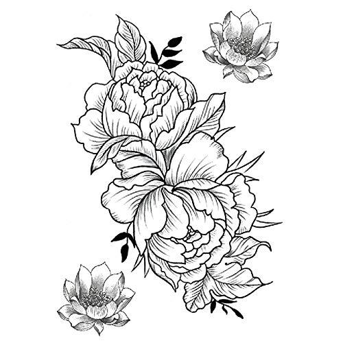 Zhuhuimin 3 Unidades/Set Marea carácter Animal Flor Tatuaje ...
