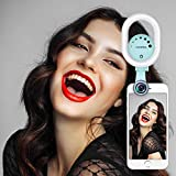 Selfie Ring Light with 120° Wide Angle Lens, Evershop Clip-on Rechargeable LED Selfie Light for iPhone, Samsung, Huawei and All Smartphones/Tablets
