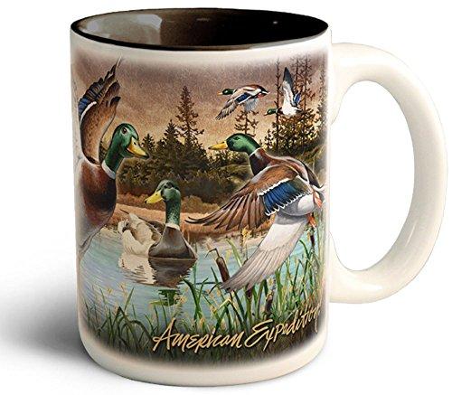 Wildlife Ducks (Wildlife Collage Series 15oz Stoneware Coffee Mug (Mallard)