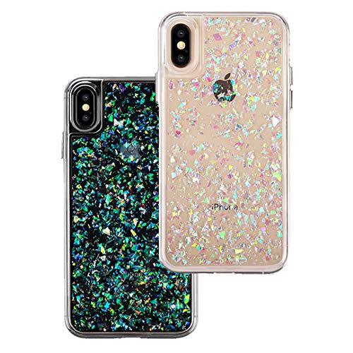 Velvet Caviar for Cute iPhone X Case & iPhone Xs Case Glitter Iridescent Holographic for Women & Girls - Protective Phone Cases [Drop Test Certified] - Sparkle Opal ()