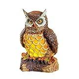 Collections Etc Solar Cutout Animal Statues Outdoor Garden Décor, Owl
