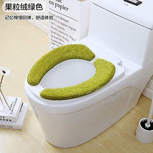 Toilet Cushion Toilet Cushion Hand Painting Bathmats Toilet Mat Three Piece Bathroom Mat,A