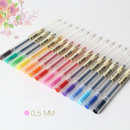 Njpower 12 pcs/Lot gel Pen 0.5 mm Colore inchiostro penna Maker penna scuola ufficio fornitura Muji Style 12 colori EC5-R1-E822