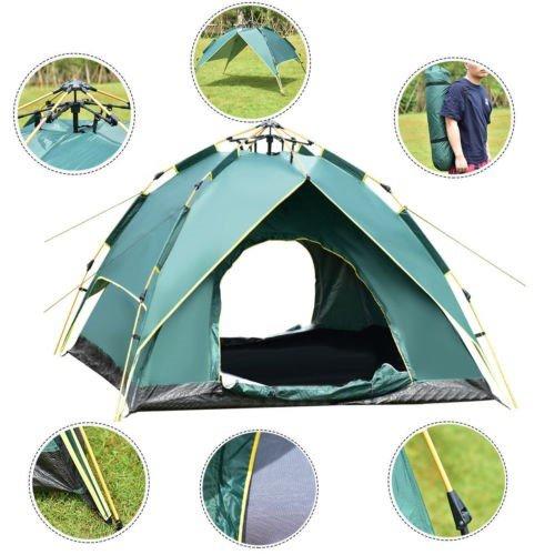 Wasserdicht 2-3 Personen Wandern Camping Hydraulische Automatische Sofortige Pop Up Zelt Bett