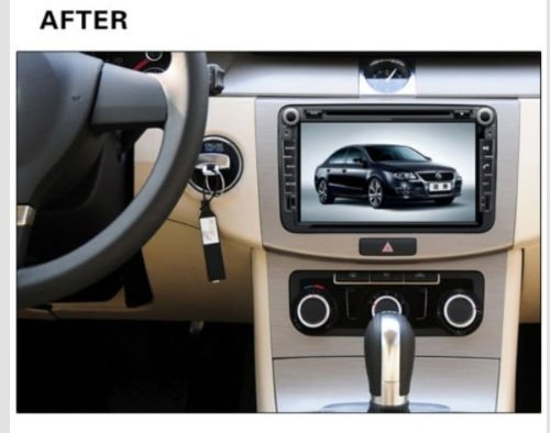 8 inch Touch screen Volkswagen DVD Player GPS Navigation for VW Jetta,VW Golf,VW Passat with DVD/GPS/PIP/3D/Game/AnalogTV/Bluetooth/ BT music/Ipod/BT telephone book/CANBUS (camera view),Steering Wheel Control by EinCar (Image #2)