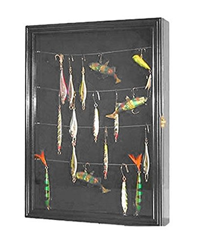 Fishing Lure Bait Spoon Display Case Cabinet Shadow Box With Door (Lure Display)