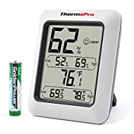 ThermoPro TP50 Hygrometer Thermometer Indoor Humidity...
