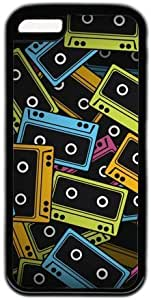 LJF phone case Vintage Retro Classic Cassette Tape Theme Iphone 5C Case