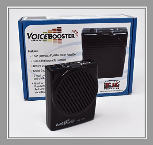 (VoiceBooster Voice Amplifier 10watts Black MR1506 (Aker) by TK Products, Portable, for Teachers, Coaches, Tour Guides, Presentations, Costumes,)