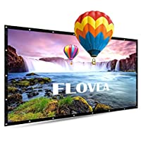 84 Inch Portable Projector Screen, FLOVEA 16:9 Foldable Outdoor Front Movie Screen, Lightweight, Folding Movie Screen for Camping/Home Theater/Education/Office Presentation