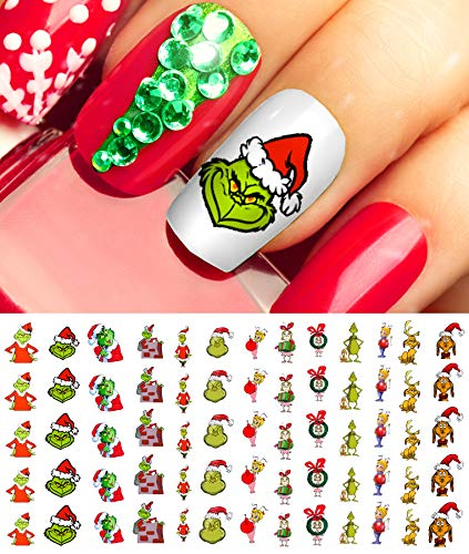 The Grinch Who Stole Christmas Nail Art Waterslide Decals Salon Quality