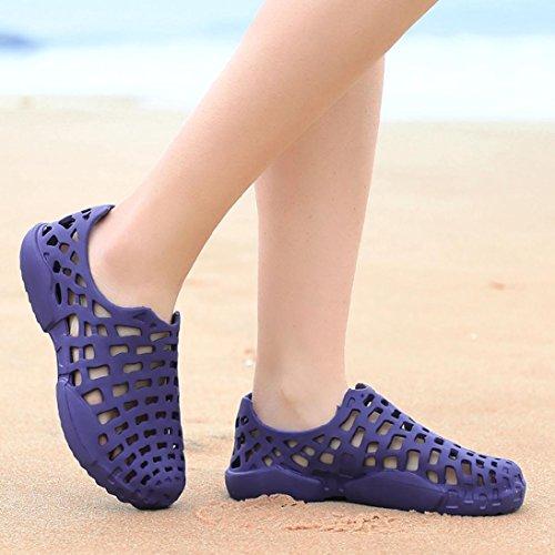 Flops Sandale Paar Flip Sommer Aushöhlen Strand Schuhe Casual Blau Männer Slipper Herren Schuhe Regenstiefel Unisex Rutschfest LHWY Damen wxz68v7Pqn