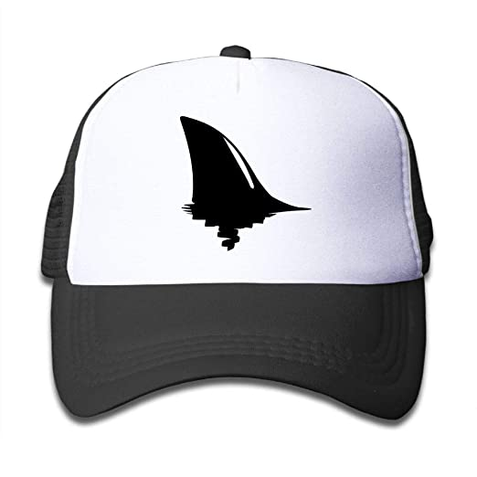 00b85a2ff2003 Mesh Baseball Cap Sun Hat Kids Cap Shark Fin Black Adjustable Boys Girl