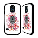 Official Monika Strigel Wolf Animals And Flowers 2 Hybrid Case for Samsung Galaxy S5 / S5 Neo