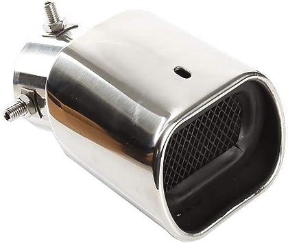 Auspuffspitzen Schalldämpfer Edelstahl Auto Auspuff Endrohr Quadrat Mund Verdickung Biegung Einlass 63mm 2 5 Auslass 94mm 3 7 Auto