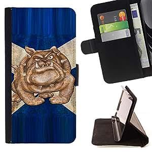 Momo Phone Case / Flip Funda de Cuero Case Cover - British Bulldog Bandera Azul Inglaterra Símbolo - Sony Xperia Z2 D6502