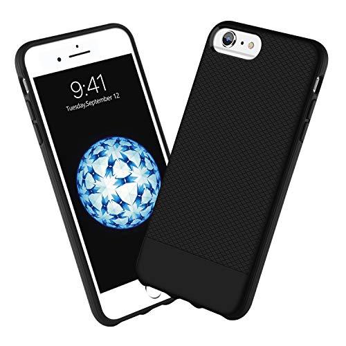 iPhone 6s Plus Case iPhone 6 Plus Case GUAGUA Slim Fit Lightweight Soft Silicone Rubber Bumper Anti-Scratch Great Grip Cover Shockproof Protective Anti-Slip Phone Cases for iPhone 6S Plus/6 Plus ()