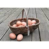 Nutley's Small Rustic Willow Vegetable Trug Basket