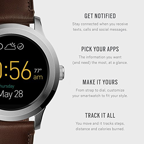 Fossil Q Founder Gen 2 Dark Brown Leather Touchscreen Smartwatch FTW2119 by Fossil (Image #2)