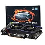 LESHP GT 740 1GB 128 Bit GDDR5 Gaming Video Photo Graphic Card with Double Fans Supports HDMI / DVI / VGA