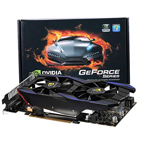 LESHP GT 740 1GB 128 Bit GDDR5 Gaming Video Photo Graphic Card with Double Fans Supports HDMI / DVI / VGA by LESHP