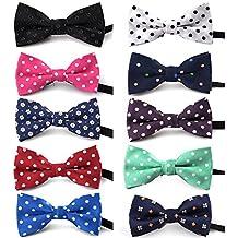 TopTie Polka Dots Bow Tie, Baby Boys Girls Dog Cat Bowties Collar, 10 PCS Assorted-set B