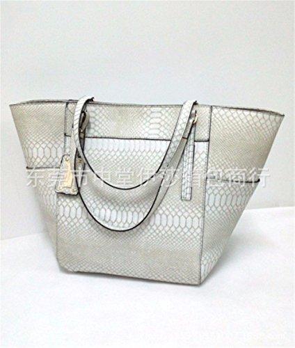 Gaoqiangfeng Crocodile Handbag Shoulder Orange White Single Bag Rice fwrf7xBqI