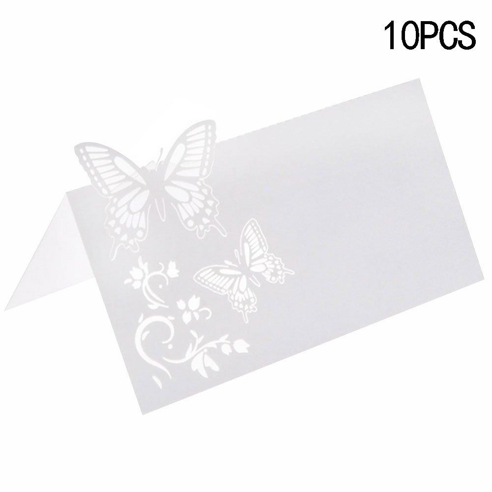 bleumoo 10pcsウェディングパーティー装飾バタフライテーブル名場所カード   B06XCRX5Y7