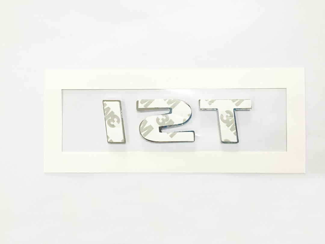 2 Red TSI Metal Sticker Vehicle-badge Logo Emblem for Volkswagen Vw Available Dian Bin-1 Silver