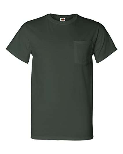 cc9b3c62 Fruit of the Loom Men's Heavy Cotton HD T-Shirt with Pocket | Amazon.com