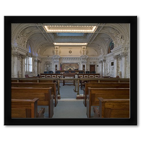 ClassicPix Framed Print 16x20: Courtroom One, James R. Browning U.S. Court Of Appeals Building.