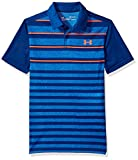 Under Armour Boys' Threadborne Bunker Polo, Moroccan Blue (487)/Neon Coral, Youth X-Small