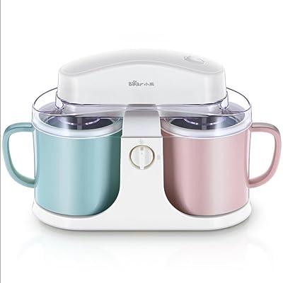 DZW Sorbetière, sorbet & Frozen yaourt machine, 1 l double grande capacité rose et bleuqualité