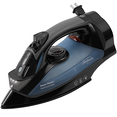 Sunbeam 4275-200 GreenSense SteamMaster Full Size Professional Iron with Retractable Cord and ClearView, Black by Sunbeam
