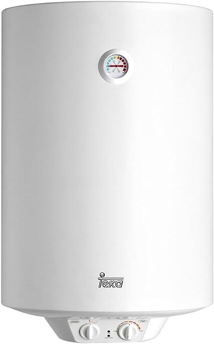 Teka 42080080 Termo Eléctrico | 1500 W | 80 L | Blanco | Clase de eficiencia energética D | Modelo Ewh80 | Tanque esmaltado | Resistencia Ceramica | Termostato Temperatura 30-75º: Amazon.es: Bricolaje y herramientas