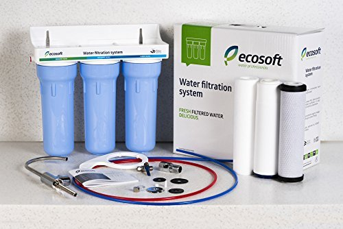 Ecosoft 3 Stage Under Sink Water Filter System For High