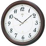 (セイコークロック) SEIKO CLOCK セイコー エンブレム HS547B 電波壁掛け時計 ホワイト ブラウン 白 茶色