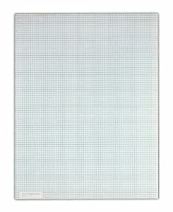TOPS Quadrille Pad, 8.5 x 11 Inch, 8 Squares per Inch, 50 Sheets, White (33180)