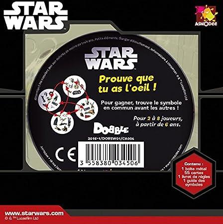 Asmodee - Dobsw01 - Dobble Star Wars: Amazon.es: Juguetes y juegos