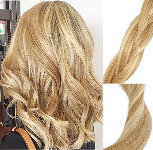 Clip In Human Hair Extensions Mixed Bleach Blonde Extension Clip ins New Version Thickened Double Weft 9A Brazilian Hair 120g 7pcs Full Head Silky Straight 100% Human Hair Clip In Extensions 14 Inch