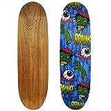 Rude Boyz 28 Inch Wooden Graphic Printed Display Skateboard Deck - Eyeballs and Brains Design