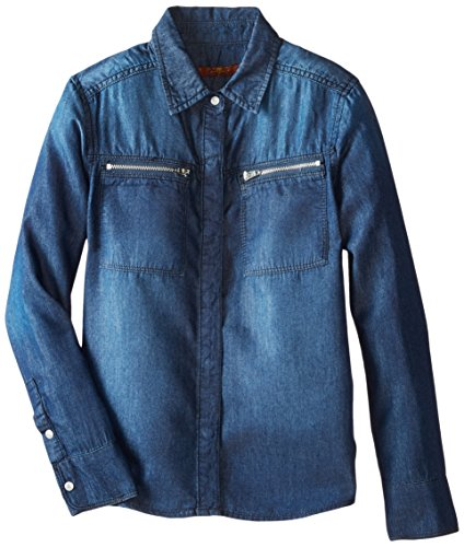 All Mankind Zipper Boyfriend Chambray