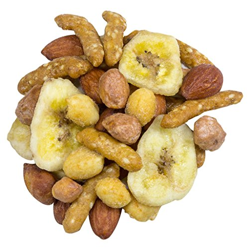 Sweet Caroline - 1lb bag | Snack Mix | Honey Roasted Sesame Sticks, Butter Toasted Peanuts, Honey Roasted Peanuts, Banana Chips, Honey Roasted Almonds ()