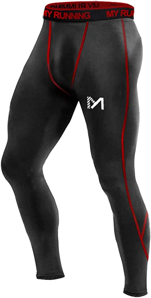 DRSKIN Men`s Compression Tight Base Layer Gym Sports Leggings Running Pants