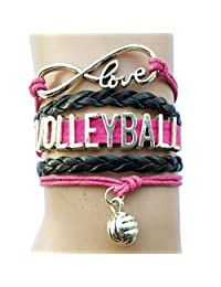 11 Colors DOLON Volleyball Bracelet Jewelry- Volleyball Fans Lovers, Players,Coaches & Teams Gifts For Her or Him