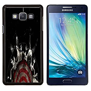 TECHCASE---Cubierta de la caja de protección para la piel dura ** Samsung Galaxy A7 ( A7000 ) ** --Resumen Oscuro