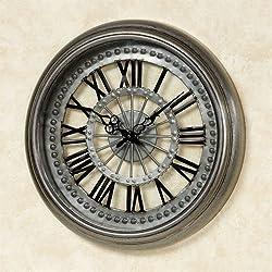 Touch of Class Sawyer Wall Clock Gun Metal